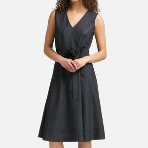 NWT $129 DKNY Women's Size 4 Navy Denim Dress